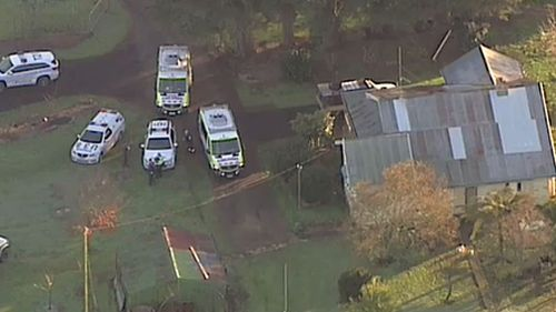A one-year-old baby girl has died after being bitten on the face by a dog at her rural Victorian home. Picture: 9NEWS