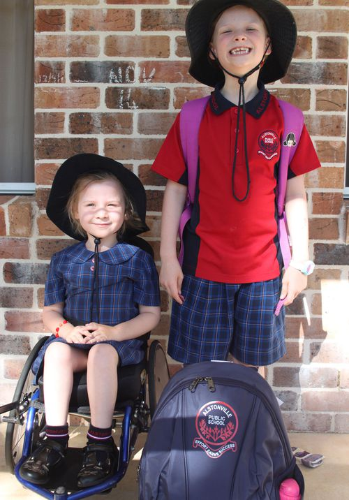 Violet Rickard has been in a wheelchair due to SMA since she was just two.