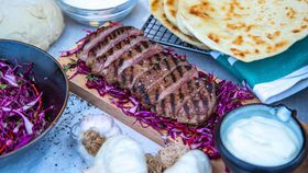 The Pluchinotta's Lamb Backstrap with Garlic Sauce and Flatbread