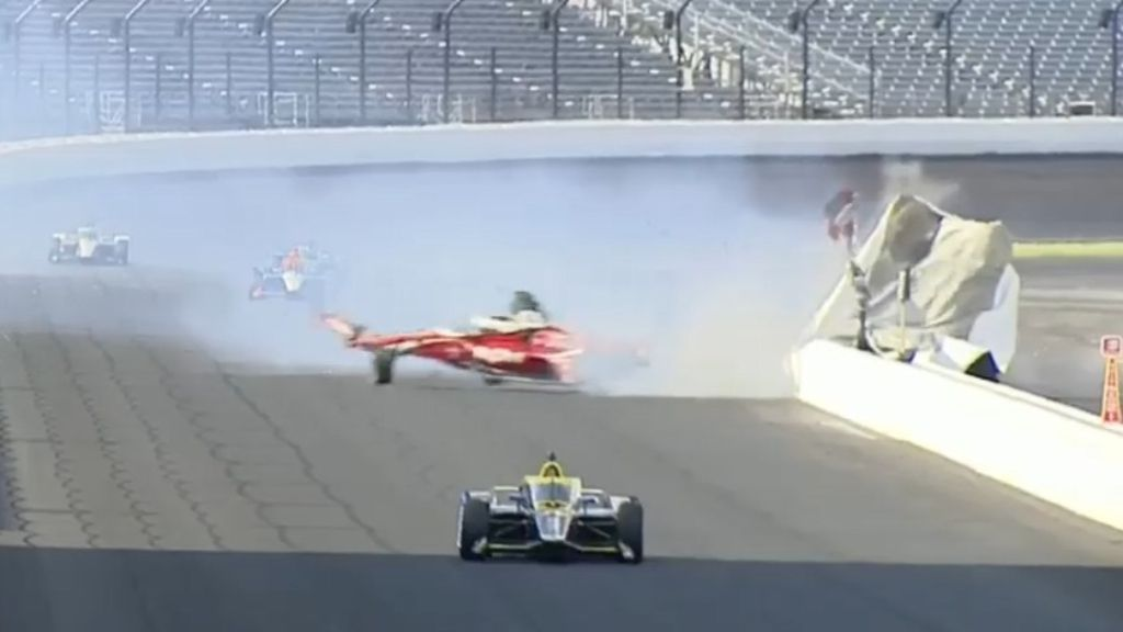 Horror crash mars controversial Indy 500 as Takuma Sato takes second win in four years