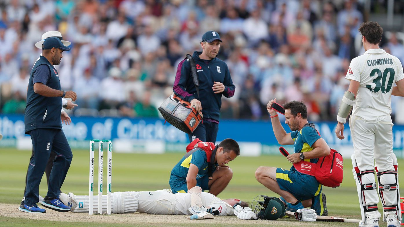 Smith is treated on the Lord's pitch