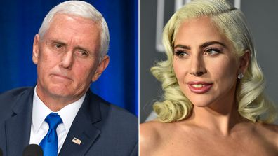 Mike Pence and Lady Gaga