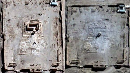 Satellite images show ancient Syrian temple destroyed by ISIL
