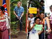 Royals' colourful day in tropical Fiji