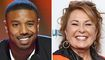 Michael B. Jordan jokes about Roseanne Barr after winning Best Villain at MTV Awards