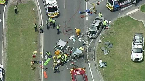 One man has been killed and three others injured in a highway collision in Melbourne.