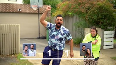 The Block 2021: The twins Luke and Josh get revenge on Ronnie with a hilarious soccer penalty shootout