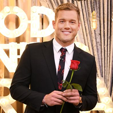 """Colton Underwood, the star of the 23rd season of The Bachelor is a guest on """"Good Morning America,"""" Wednesday, January 2, 2019."""