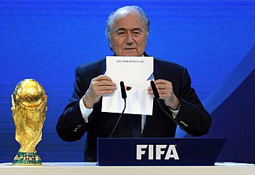 Sepp Blatter at 2022 FIFA World Cup announcement (AAP)