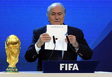Sepp Blatter at 2022 FIFA World Cup announcement (AAP)