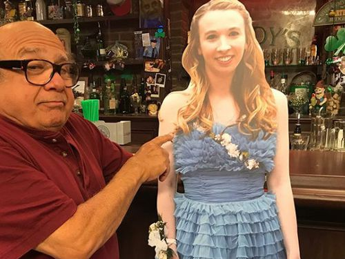"""DeVito repaid the favour by bringing """"Allison"""" to the bar in his TV show. (Supplied)"""
