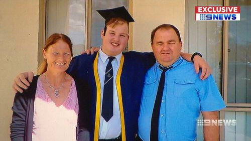 Brett Hoban suffered a heart attack at home 10 days after he was discharged from hospital. (9NEWS)