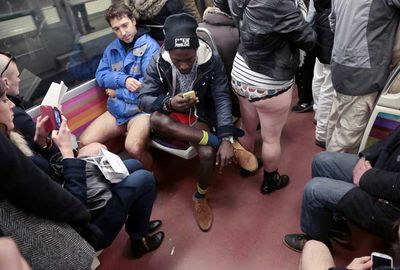 Yesterday was No Pants Subway day.