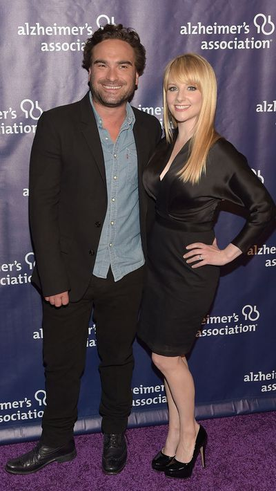 Johnny Galecki and Melissa Rauch
