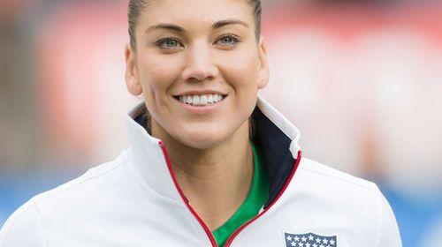 Women's soccer superstar Hope Solo. Picture: Getty