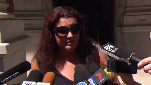 Toni Dodd outside court today following the verdict. (9NEWS)