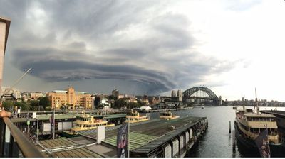 The storm over Sydney. (Supplied)