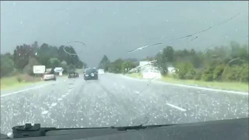 NSW Blue Mountains hail storm