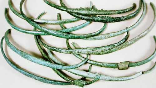 """Spangenbarren, or """"ribs"""", represented wealth in the Bronze Age."""