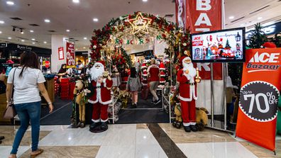Shopping malls in Indonesia are decorated with Christmas decorations ahead of Christmas and new year's eve celebrations.
