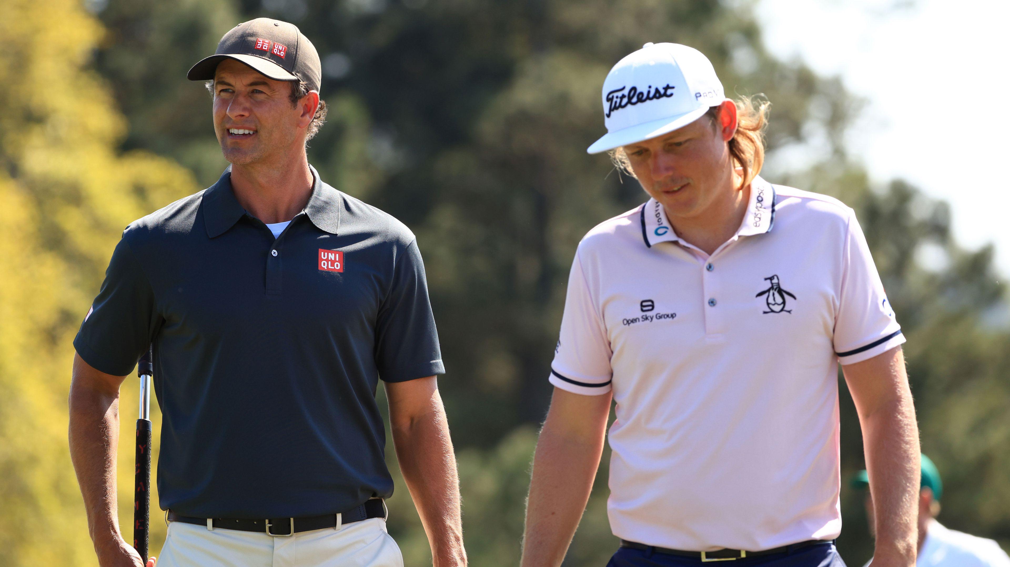 Australian golf stars Adam Scott and Cameron Smith prepare for The Masters.