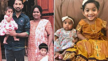 The family - Priya, her husband Nadesalingam and their Australian-born daughters Kopika, 4, and Tharunicaa, 23 months, were popular and well-integrated members of a Queensland community until they were detained.