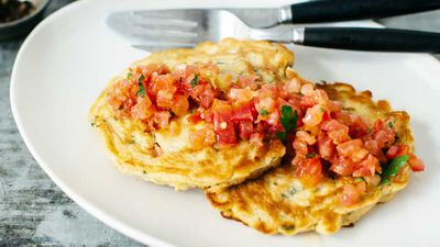 "Recipe: <a href=""http://kitchen.nine.com.au/2016/08/01/11/51/corn-and-capsicum-fritters"" target=""_top"">Corn and capsicum fritters</a>"