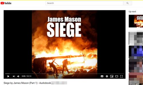 Screengrab of the Siege audiobook, currently live on YouTube