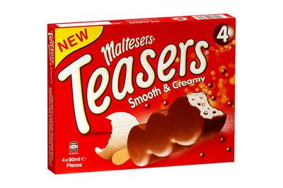 Maltesers Ice-Cream Bar: 18.3g sugar — about 4.5 teaspoons