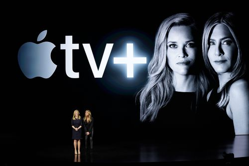 Jennifer Aniston and Reese Witherspoon will star in a new Apple series. AP Photo/Tony Avelar