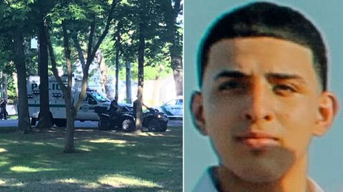 US police search for missing teenager Louis Germosen whose disappearance is being linked to the MS-13 gang. (Photos: Twitter).