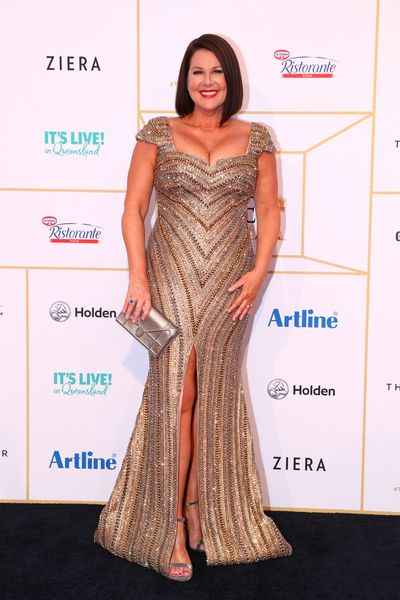 Comedian Julia Morris knows that a classic scarlet lip is always a win on the red carpet