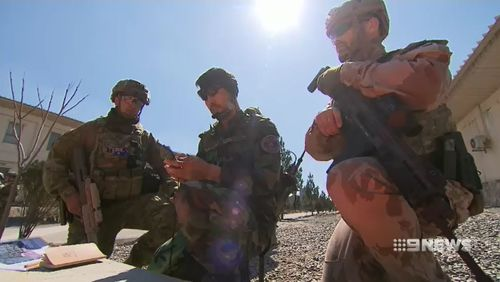 The Aussies train Afghan soldiers the same way they're trained at ADFA. (9NEWS)