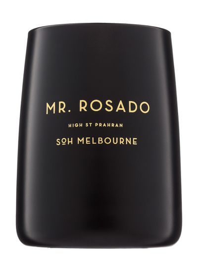 "<a href=""http://sohmelbourne.com/product/mr-rosado/?v=6cc98ba2045f"" target=""_blank"">SoH Melbourne</a> Mr Rosado candle, $65"