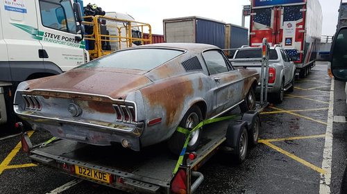 The classic Mustang is currently in the hands of Corner Classics, along with James' ashes.