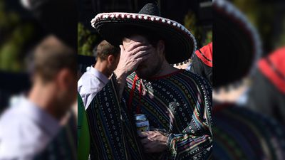 This amigo seemed disappointed by a race result. (AAP)