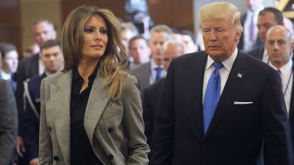 FLOTUS Melania Trump and President Donald Trump. Image: Getty.
