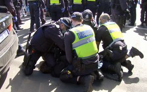 Victoria Police arrest 74 people and fine 176 over 'Freedom Walk' against lockdown in Melbourne