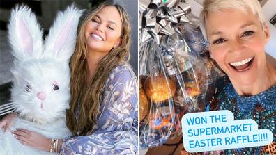 Easter 2021, how celebrities celebrated Easter, gallery, Jessica Rowe, Chrisy Teigen