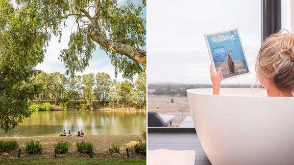 Wagga Wagga Beach / Belisi Farm Stay bathtub