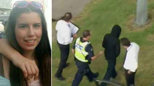 Murder victim Masa Vukotic, and police question a man who may have been involved. (9NEWS)