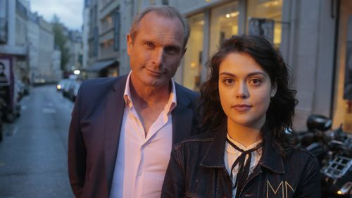 60 Minutes reporter Ross Coulthart with Emma Parkinson in Paris. (60 Minutes)