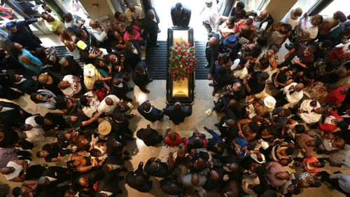 Slain Ferguson teen Michael Brown's funeral. (Getty)