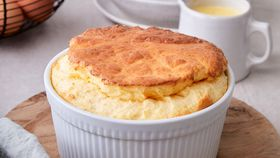Peter Gilmore's easy goat's cheese soufflé
