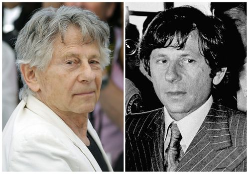 Roman Polanski at a film event last year, and walking out of a California courthouse in 1977 before he fled the country. (AAP)