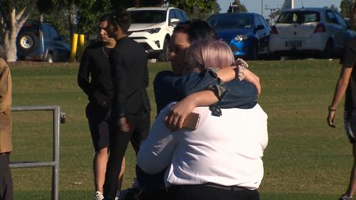 Hundreds of people gathered at today's tribute to Larissa. (9NEWS)