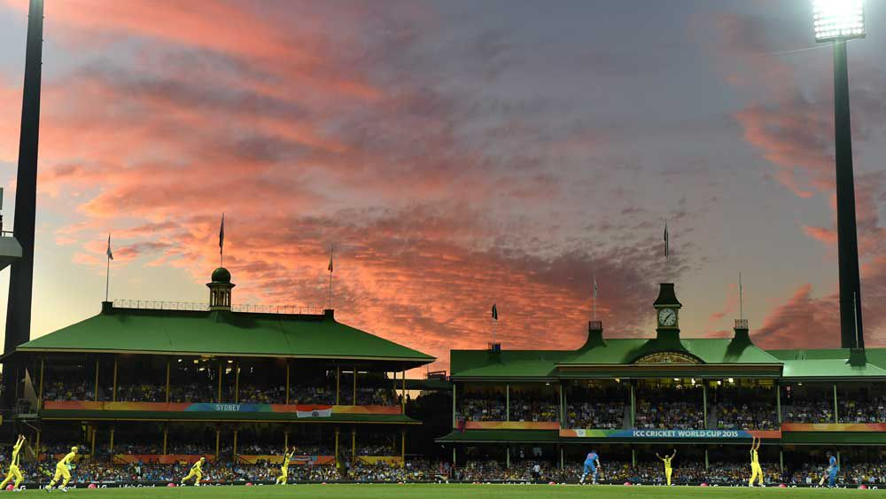 The SCG during a day-night World Cup game. (AAP)