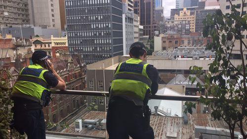 Police entered homes of CBD residents using balconies to search for burglar. (via Jonathan Kearsley)