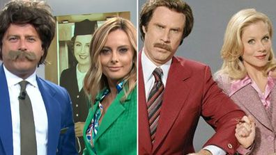 Ally and Karl pay homage to Anchorman and Qantas