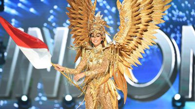 Miss Indonesia was dressed as a Garuda which ties into Buddhist mythology.